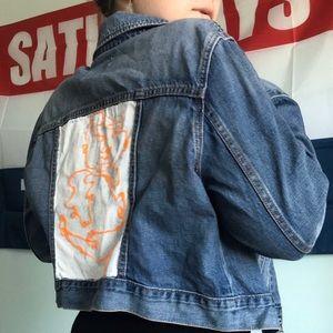 Painted, petite jean jacket!
